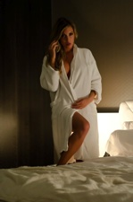 Blond Bombshell Samantha Gets Down And Dirty In A Hotel Room